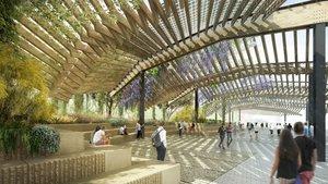 Recreación virtual del nuevo paseo que se urbanizará sobre la cobertura de la Ronda de dalt.