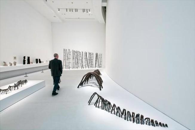 Una de las salas del Macba dedicadas a la artista minimalista Rosemarie Castoro.