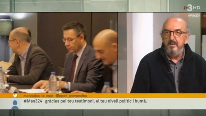 Jaume Roures, en 'Mes 3/24' (TV-3).