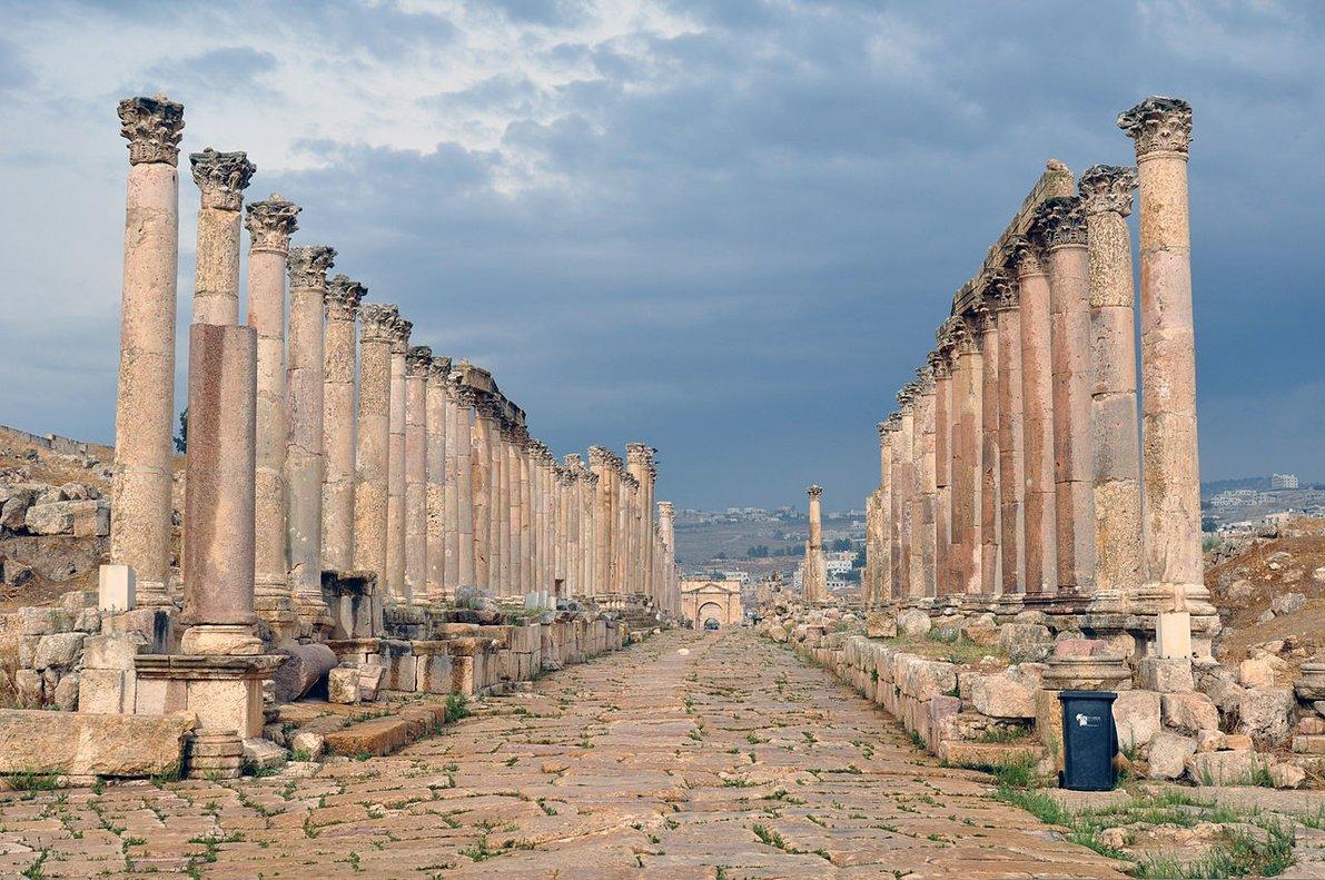 Ruinas romanas de Gerasa, en el norte de Jordania.