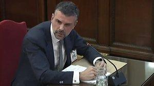 Santi Vila, durante su declaración en el juicio del 'procés'.