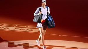 Sharapova, en su partido de regreso en Stuttgart.