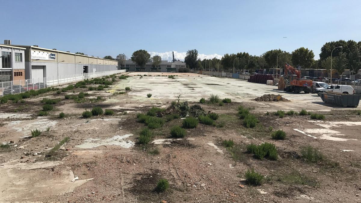 Solar en el polígono industrial de la Zona Franca donde se ubicará la nueva fábrica de La Casa por el Tejado.