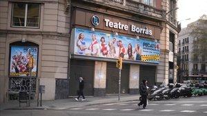 El Teatre Borràs, cerrado por la crisis del coronavirus.