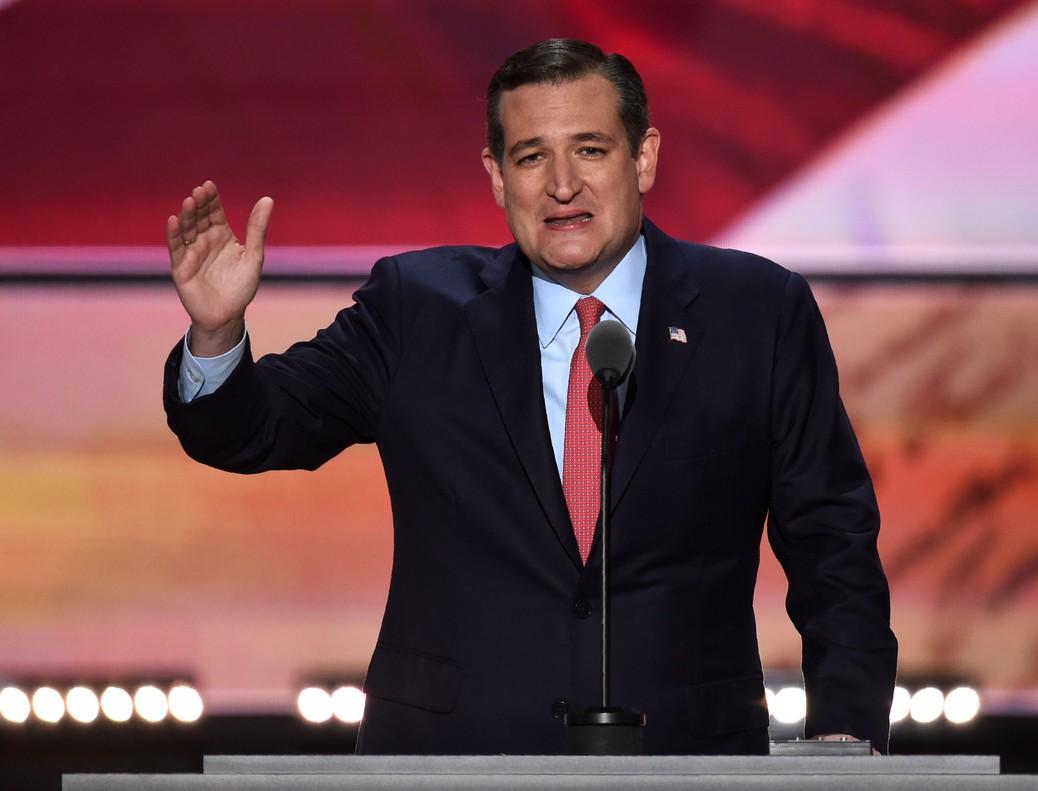 Ted Cruz, durante su polémica intervención en la convención republicana, el miércoles en Cleveland.