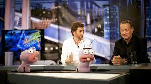 Tom Hanks, con Pablo Motos, en 'El hormiguero'.