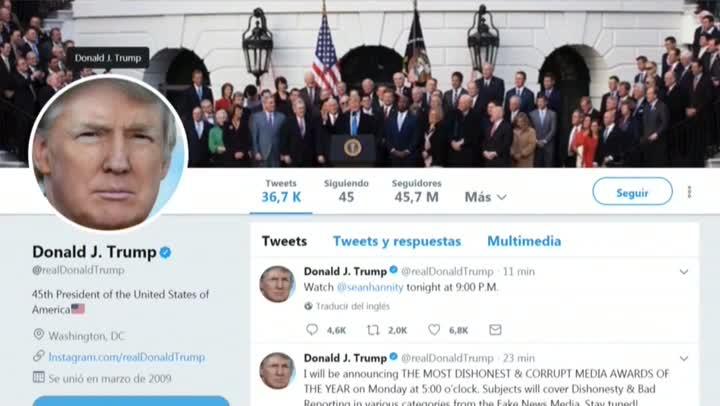 El presidente Donald Trump utilizó las redes sociales para contestar al líder de Corea del Norte.