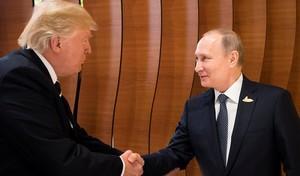 Trump y Putin en la cumbre del G-20 en Hamburgo.