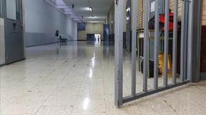 Un pasillo de la prisión de Can Brians.