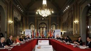 Reunión de la VI Conferenciade Presidentes Autonómicos en el Senado, en enero del 2017.