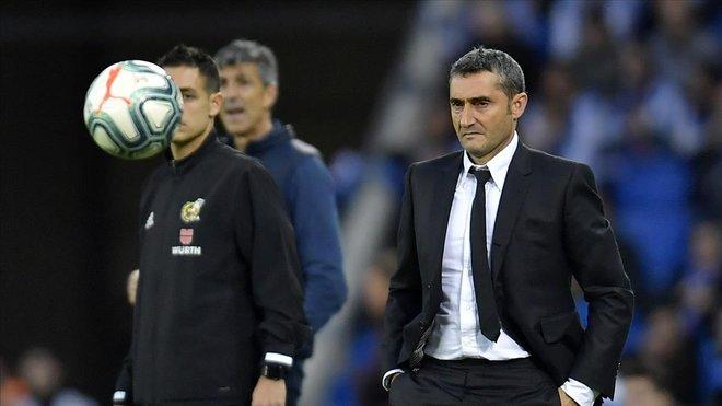 Valverde, en el duelo contra la Real Sociedad en Anoeta.