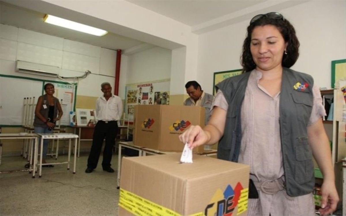 Un simulacro de votación en Venezuela por parte delConsejo Nacional Electoral (CNE).