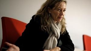 Victoria Rosell,en la sede de Podemos en Madrid.