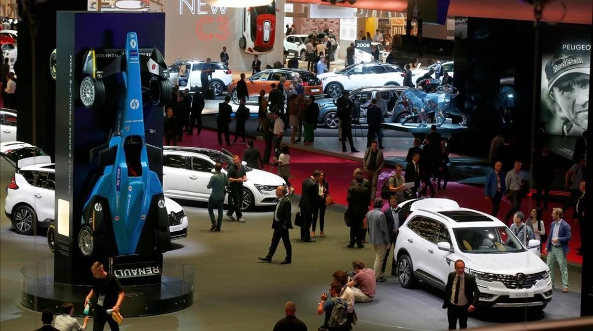 Vista del Salón del Automóvil de París.