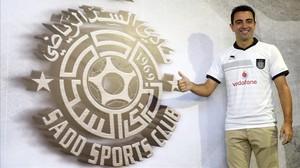 Xavi Hernández con la camiseta del Al Sadd de Catar.
