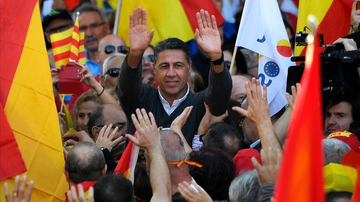 Xavier Garcia Albiol participa en la marcha de SCC.