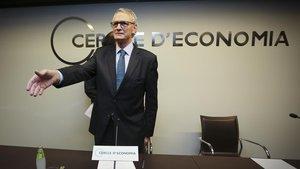 Antón Costas, en un acto del Cercle dEconomia, en su etapa como presidente.