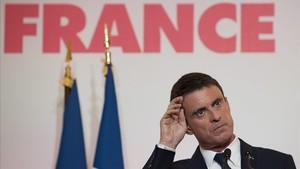 Manuel Valls, en enero del 2017, cuando era candidato a las primarias de los socialistas franceses.