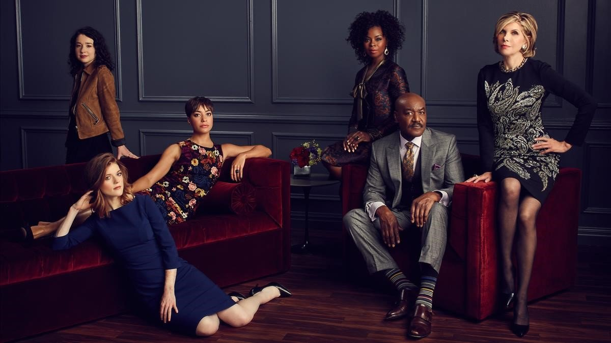 Los protagonistas de 'The Good Fight', en una foto promocional de la serie de la CBS.