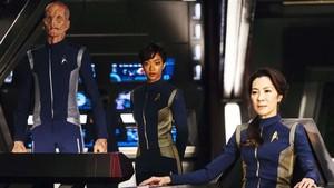 Los protagonistas deStar Trek: Discovery, serie de la cadena CBS.