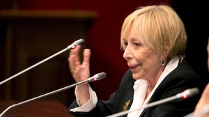 Rosa Maria Sardà, en una conferencia en Zaragoza, el pasado noviembre.