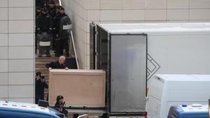 La policia blinda a Lleida l'accés al museu que acull la peces de Sixena