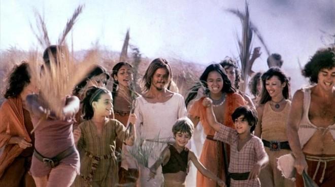 Una imagen de la película Jesus Christ Superstar, con Ted Neeley.