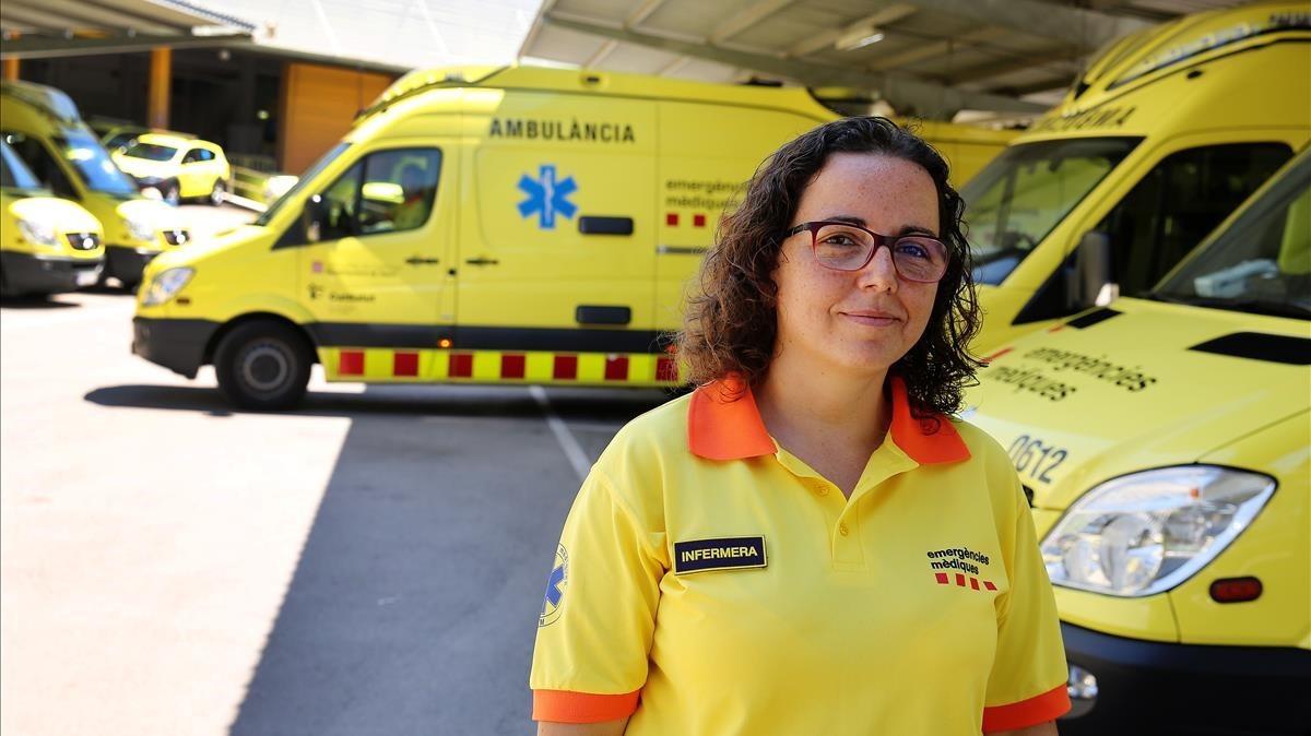 Clara López, enfermera del Servei dEmergències Mèdiques (SEM) de Catalunya.