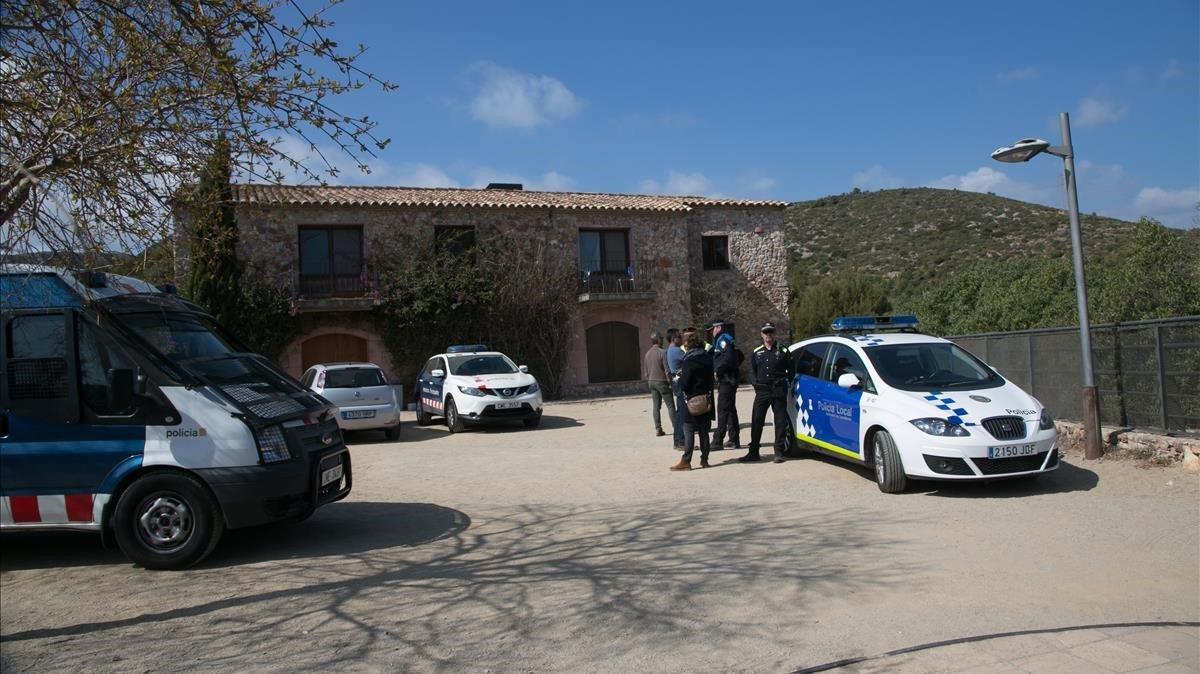 Los Mossos custodian el centro de interpretación de Cal Ganxo, reconvertido recientemente en un centro de menores