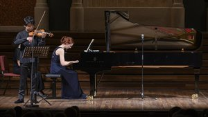 Varvara y Fumiaki Miura en el Palau de la Musica.
