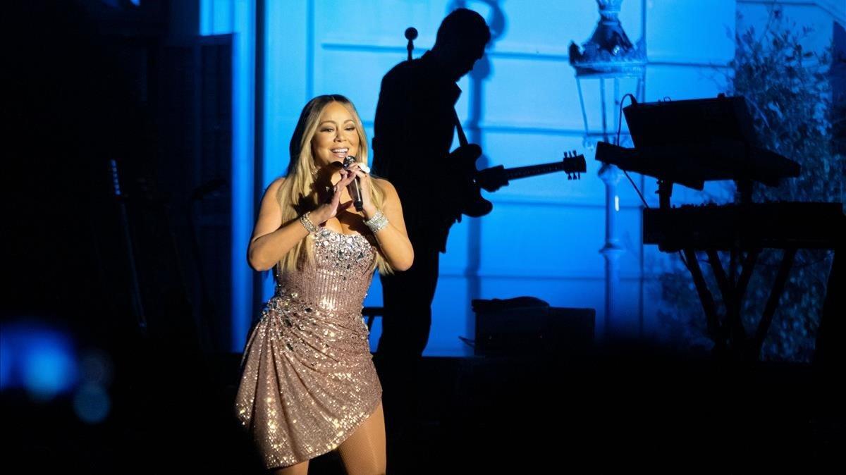 Mariah Carey, en su actuación en el festival Jardins de Pedralbes, en Barcelona,el lunes pasado.