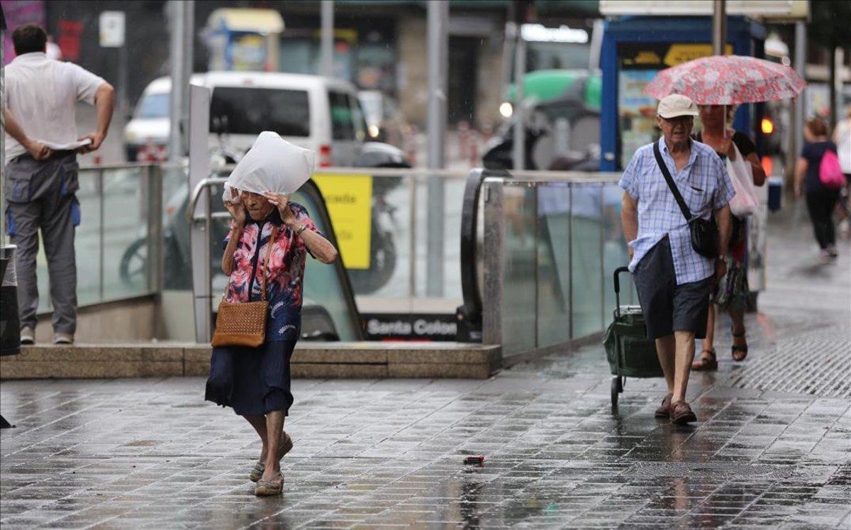 Les pluges arriben a Catalunya