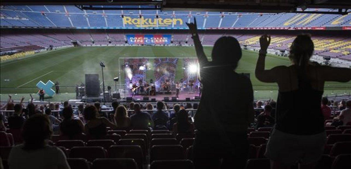 Una imagen del concierto de Sopa de Cabra, del pasado viernes, dentro del festival Cruïlla XXS.