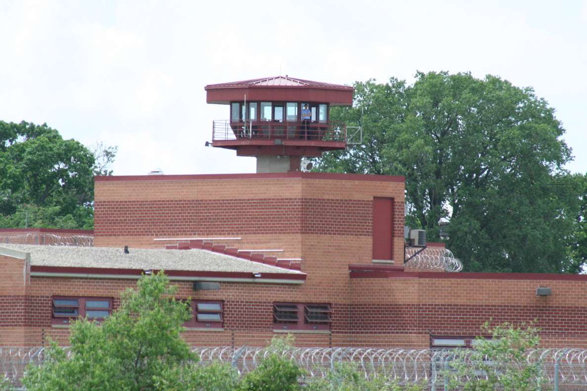 Exterior de la prisión Columbia Correctional Institution.