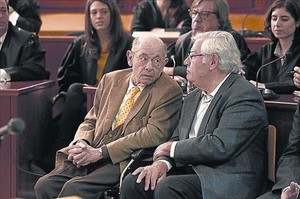 Fèlix Millet y Jordi Montull, durante el juicio del hotel, el año pasado.