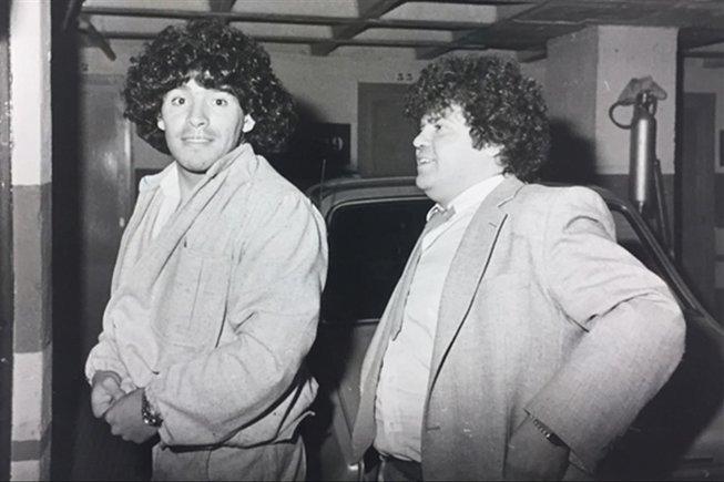 Con su primer mánager, Jorge Cyterszpiler, con el que rompió en 1985.