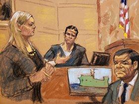 Vicente Zambadahijo de IsmaelEl MayoZambada y uno de los testigos principales en el juicio por narcotrafico contra JoaquinEl ChapoGuzmandurante la continuacion del juicioen el tribunal del Distrito Sur en BrooklynNueva YorkEE UU.EFE Jane Rosenberg
