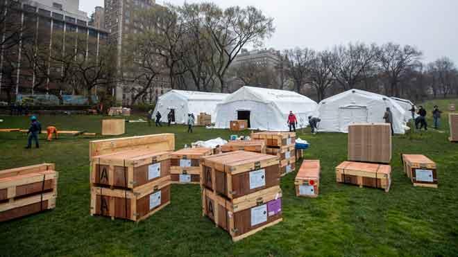 Nova York, a set dies del límit pel coronavirus