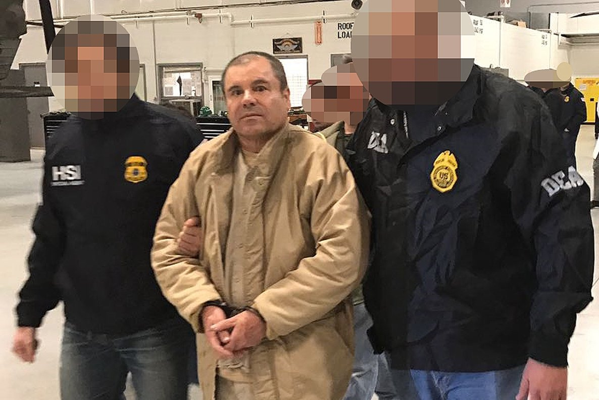 Joaquin  El Chapo  Guzman goes on trial in New York on Monday  accused of running the world s biggest drug cartel and spending a quarter of a century smuggling more than 155 tons of cocaine into the United States   Photo by HO   INTERIOR MINISTRY OF MEXICO   AFP