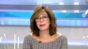 Ana Rosa Quintana hablando de la agresión de un independentista a una señora que llevaba una bandera de España.