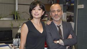 Javier Gutiérrez y Anna Castillo, protagonistas de la serie de TVE Estoy vivo.