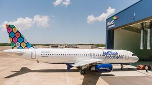 Un avión de la compañía JetBlue como los que conectarán La Habana con Boston.