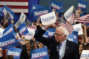 Bernie Sanders, este miércoles en Manchester (New Hampshire).