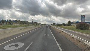 El punto kilométrico 17 de la C-58 en Terrassa dirección Manresa.