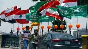 Los ministros de Exteriore de Arabia Saudí, Egipto, EAU y Barein se reúnen en El Cairo para tratar la crisis con Qatar.