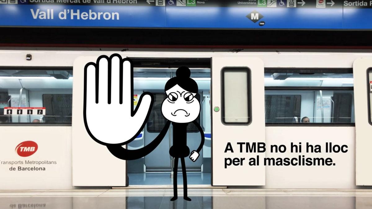 Campaña municipal contra las actitudes machistas en el transporte público delAyuntamiento de Barcelona y Transports Metropolitans de Barcelona (TMB).