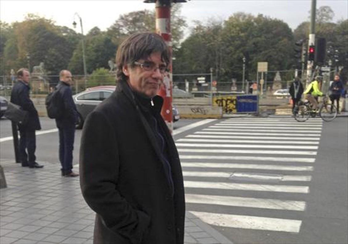 Carles Puigdemont, en Bruselas, el pasado 31 de octubre.