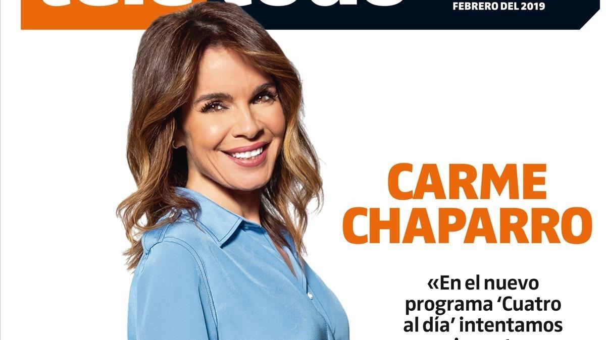 Carme Chaparro, en la portada de 'Teletodo'.