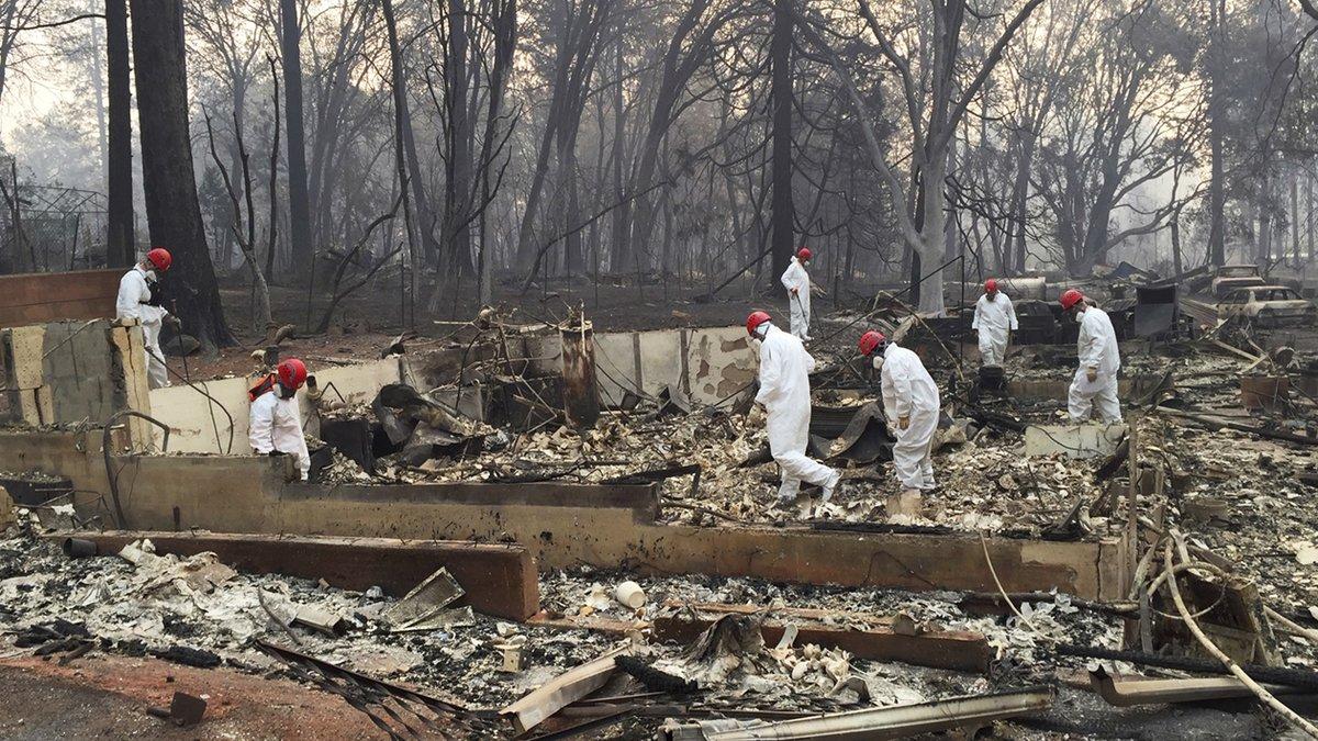 La cifra de desaparecidos en California por el incendio puede aumentar.