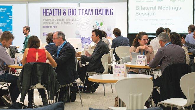Citas rápidas en el Health & Bio Team Dating celebrado la semana pasada.